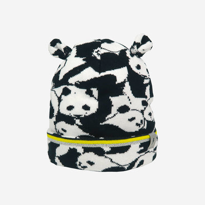 Reflective badge on Little Hotdog Watson kids winter hat Rookie