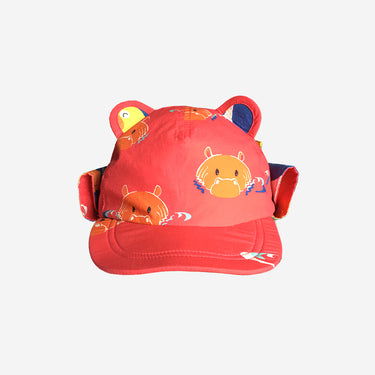 Childrens baseball cub sun hat in Hip Pink product front view