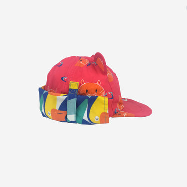 Childrens baseball cub sun hat in Hip Pink product side view