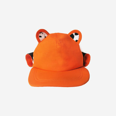 Front view of orange adults sun hat from Little Hotdog Watson