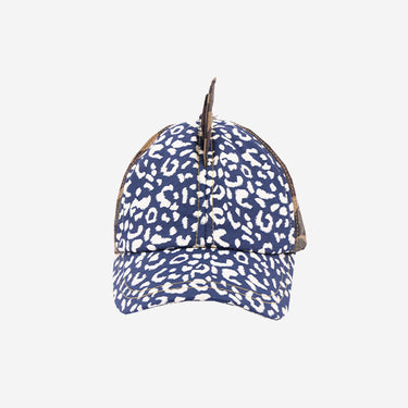 Childrens baseball cap hat in Leopardtude product front view