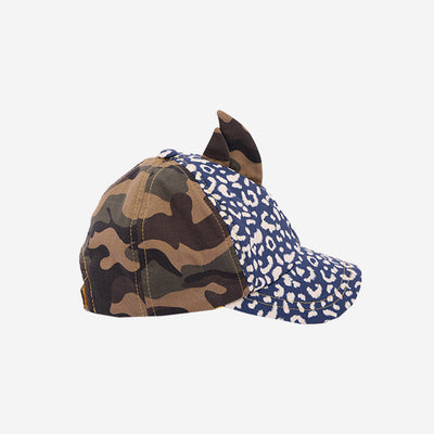 Childrens baseball cap hat in Leopardtude product side view