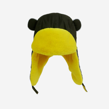 khaki yellow winter faux fur hat from Little Hotdog Watson