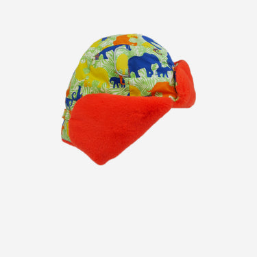 arctic cub winter hat with elephant print for kids