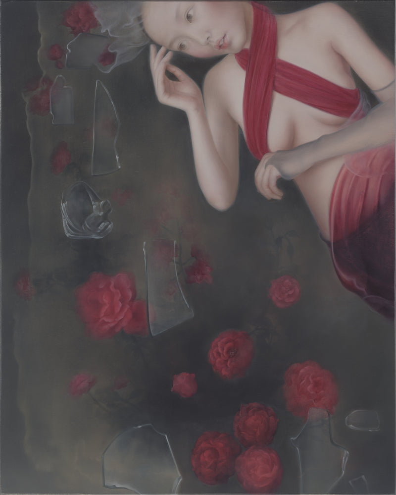 He Hong Bei - Dumped Garbage - Red Bra