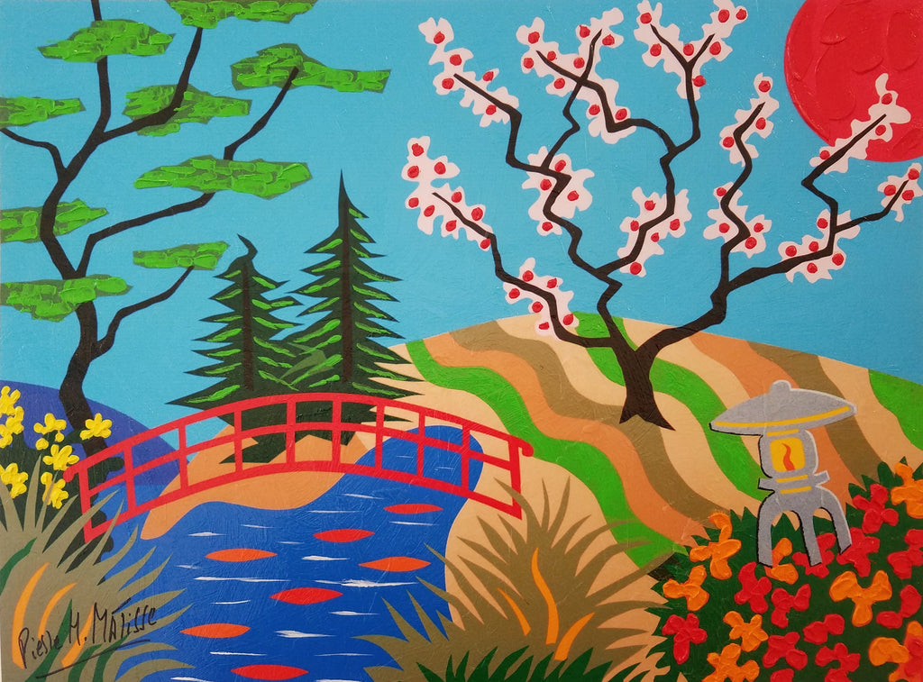 Pierre H Matisse - Cherry Blossom Bridge