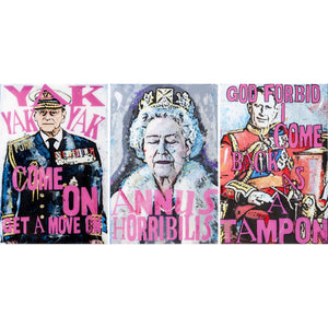 Luciana Caporaso- God Save the Queen Triptych