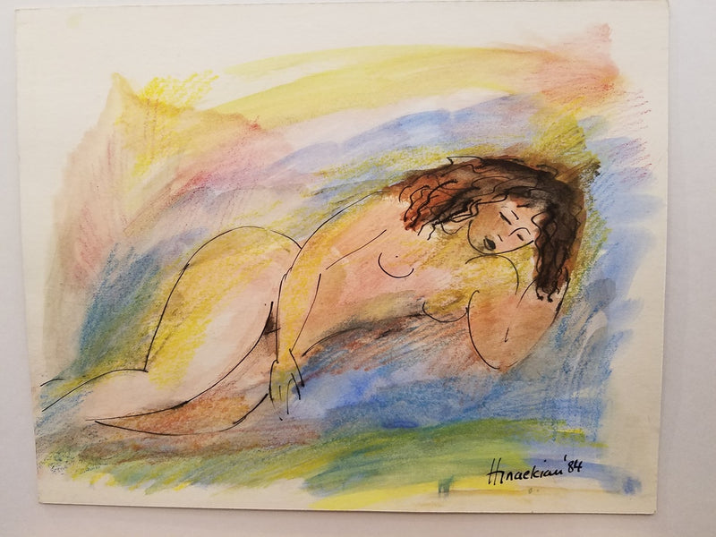 Peggy Hinaekian - Nude in the Water