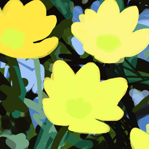 Sherry Pollack  -  Pop-Flowers Yellow (/25), 2019