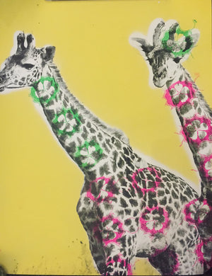 Russian Doll - Giraffes Babes Yellow
