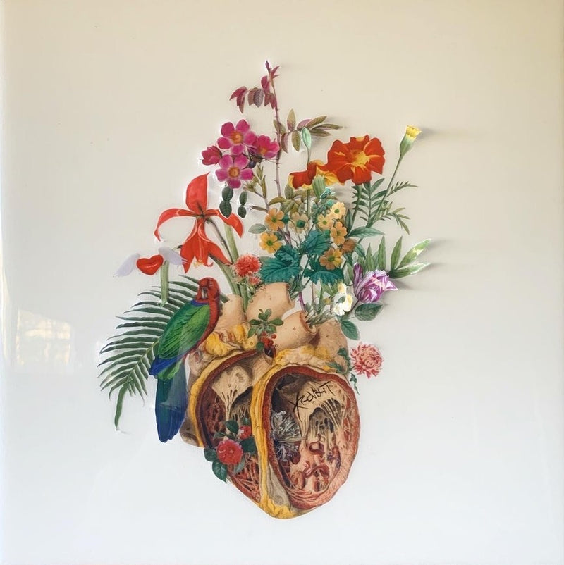 David Krovblit- Krovblit's Living Anatomy- Heart with Flowers
