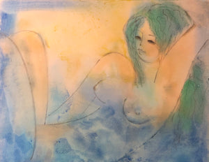 Peggy Hinaekian - Nude with Green Hair