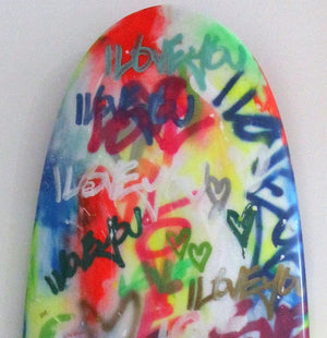 Amber Goldhammer - Graffiti Surfboard