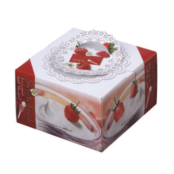 "11-1/8 x 11-1/8 x 5-1/2"" Cake Box with Handle (TD8)"