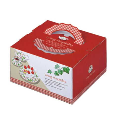 "10 x 10 x 5-1/8"" Cake Box with Handle (TD7)"