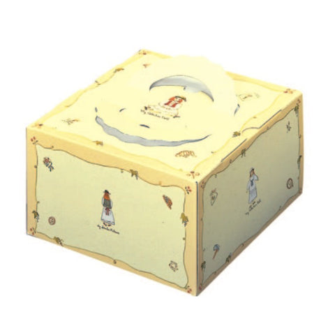 "8-3/8 x 8-3/8 x 4-3/4"" Cake Box with Handle (TD6)"