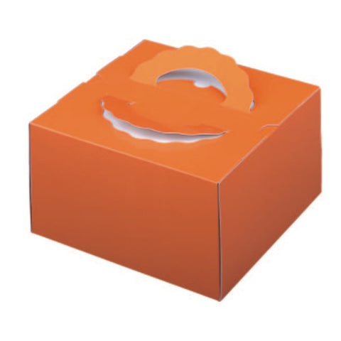 "5-1/2 x 5-1/2 x 4-1/2"" Cake Box with Handle (115TD4)"