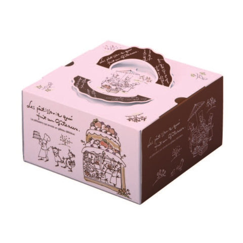 "6-1/4 x 6-1/4 x 4-1/2"" Cake Box with Handle (115TD45)"