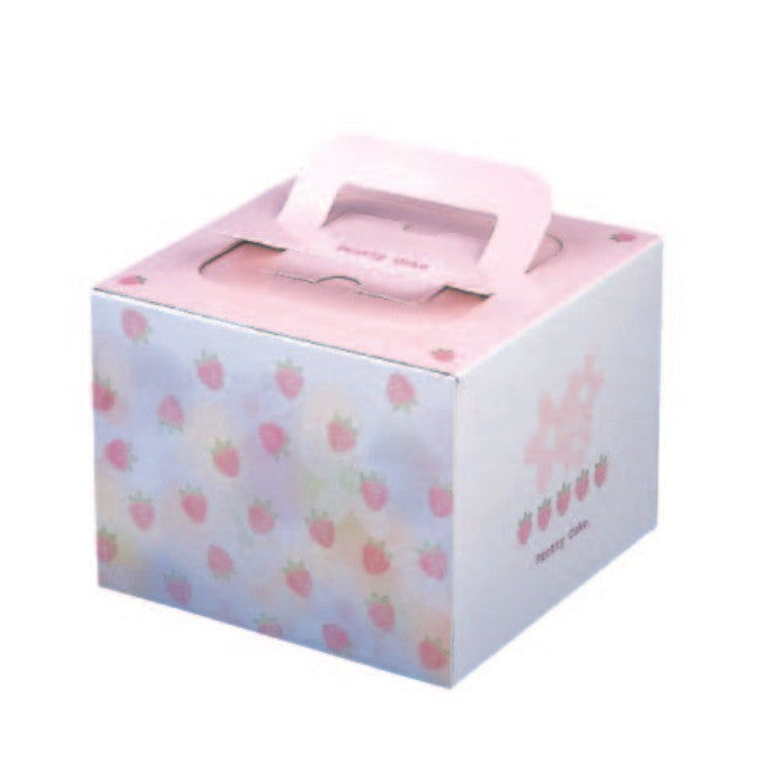 "4-3/8 x 4-3/8 x 3-1/2"" Cake Box with Handle (TD3)"