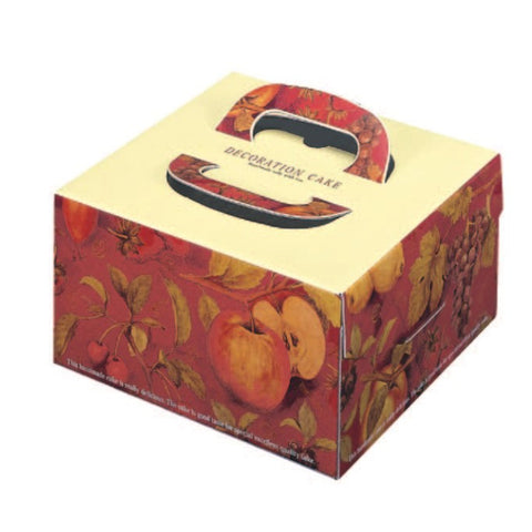 "8-7/8 x 8-7/8 x 4-3/4""  Cake Box with Handle (FBTDL6)"