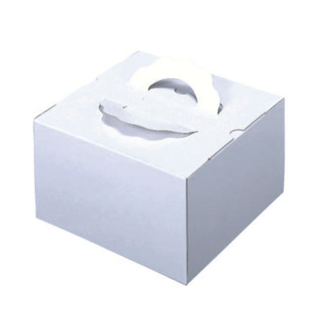 "5-1/2 x 5-1/2 x 4-1/8"" Cake Box with Handle (TD4)"