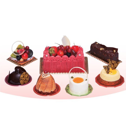 Polygon Colored Cake & Pastry Trays