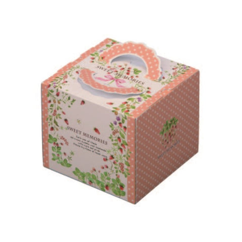 "6-1/4 x 6-1/4 x 5-1/2"" Cake Box with Handle (140TD45)"