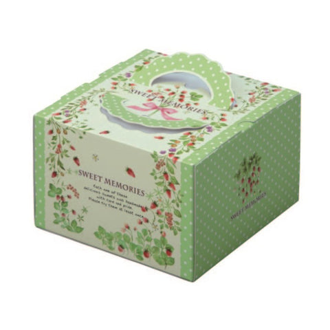 "8-3/8 x 8-3/8 x 5-3/4"" Cake Box with Handle (140TD6)"