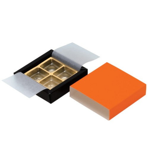 4 Cavity Orange Ganache Box Set (GC)