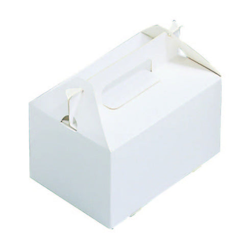 "7 x 7 x 3-1/2"" White Gable Box (HB66)"