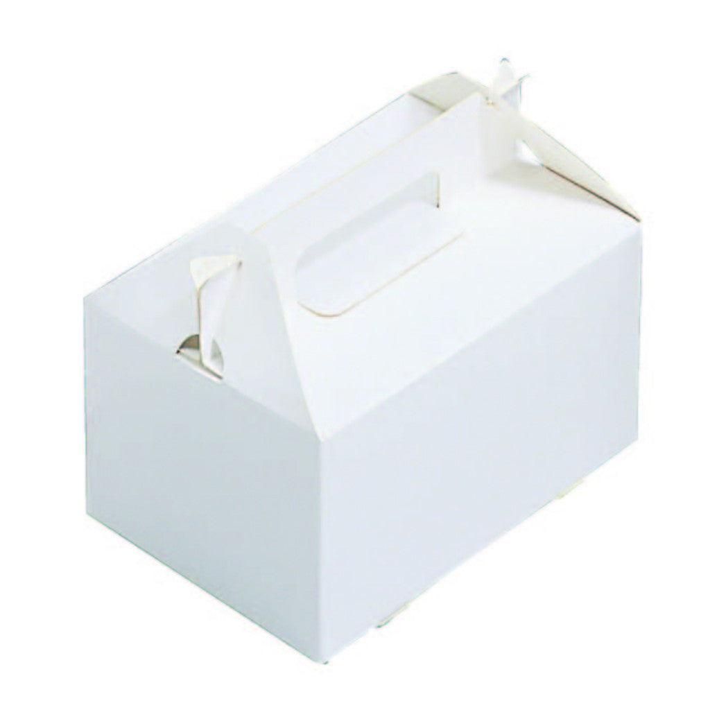 "5-7/8 x 5-7/8 x 3-1/2"" White Gable Box (HB55)"