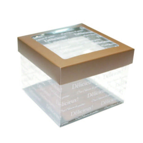 "4-7/8 x 4-7/8 x 3-1/2"" Clear Cookie Box (KO120)"