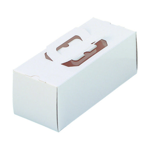 "10 x 4-1/8 x 3-1/2"" Side Opening Roll Cake Box (TRO8)"