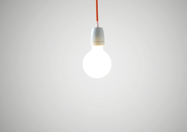 Orange Cord with Ceramic Light Fitting for Luna Lana Lights