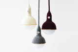 Chains Pendant Light, Handcrafted Lighting, Knitted Merino Wool Lamp, Luna Lana, Home, Cafe, Restaurant