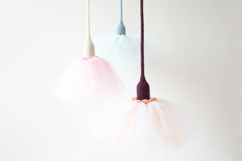 Me-a-Tutu Pendant Light, Ballerina, Handcrafted Lighting, Lamp, Luna Lana, Home, Cafe, Restaurant