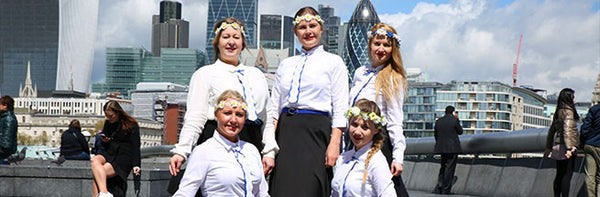 LES Dancers wore KiRiVOO ties when dancing at London´s Trafalgar Square
