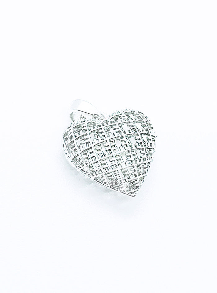 3D Printed Silver Pendant MYHEART