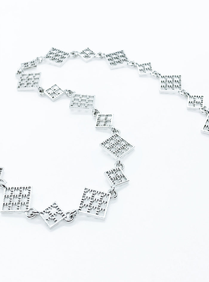 3D Printed Silver Anklet NET