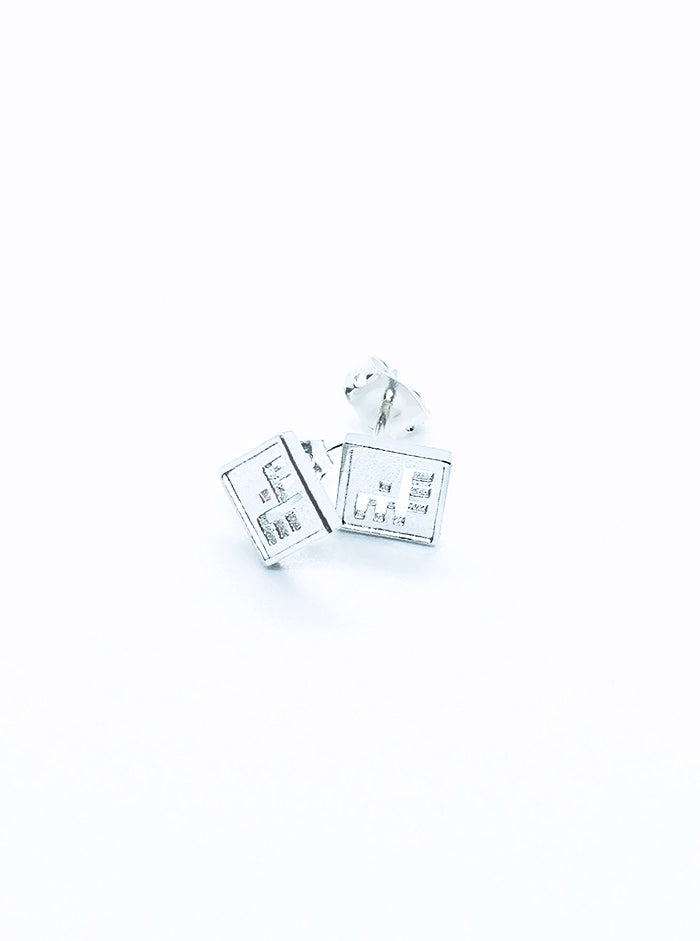 3D Printed Silver Earrings KiRiVOO