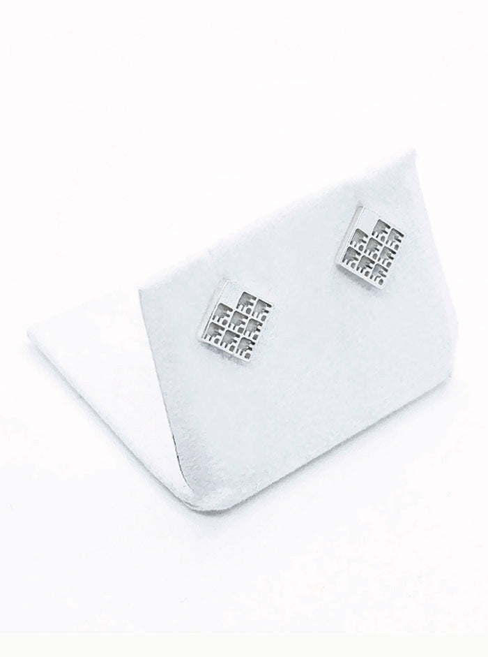 3D Printed Silver Earrings NET