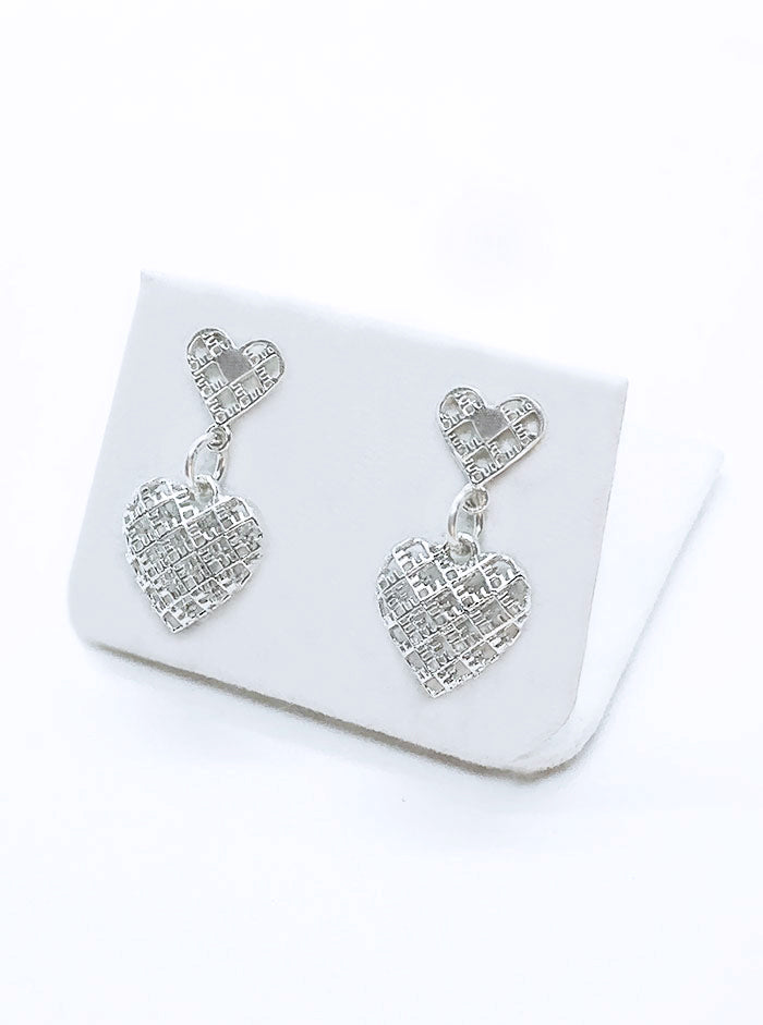 3D Printed Silver Earrings 2HEARTS