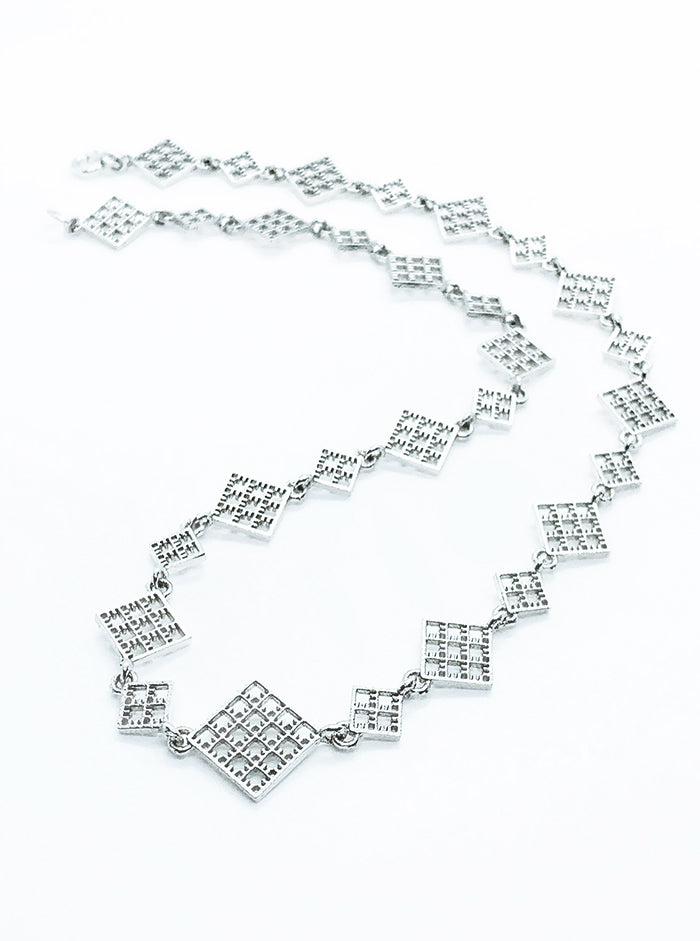 3D Printed Silver Necklace NET *P