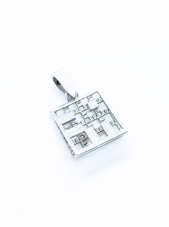 3D Printed Silver Pendant 2IN1 *P