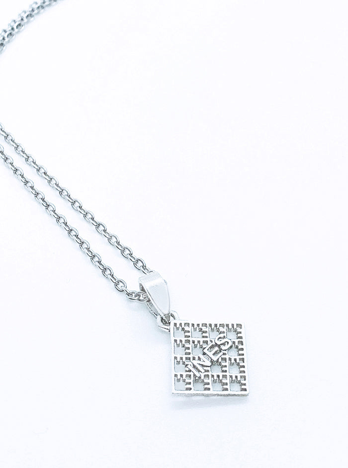 3D Printed Silver Pendant NET *P