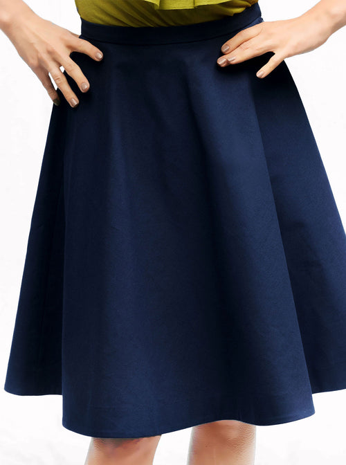 RUKIS Blue Organic Cotton A-line Skirt