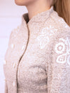 Melange Grey with White Organic Cotton + Hemp Jacket HALLIKE