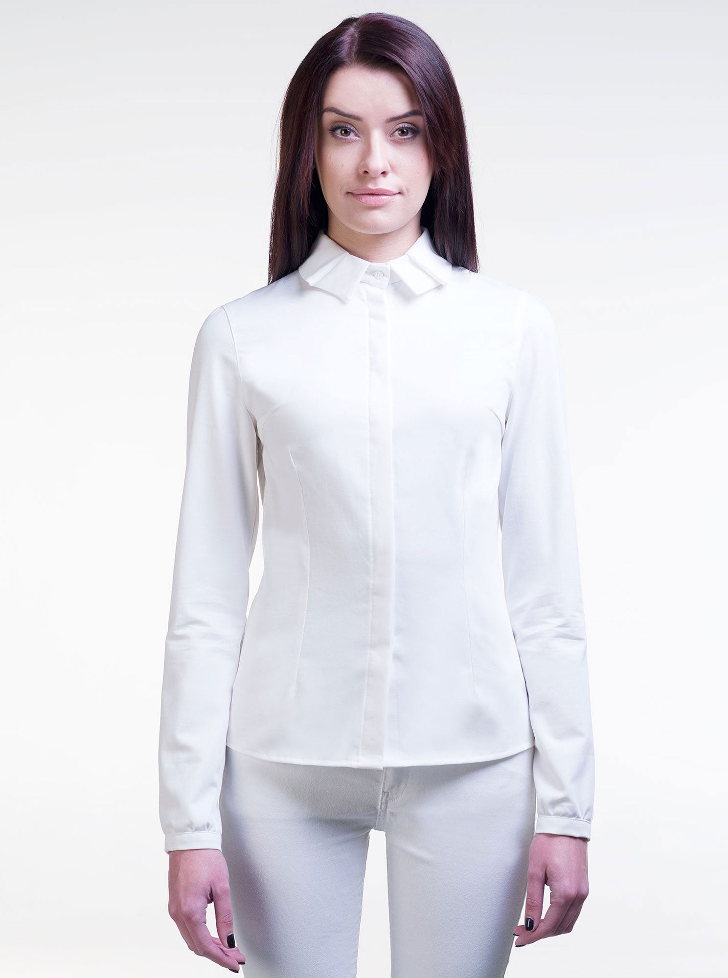 LAURA Organic Cotton White Shirt (Fitted)