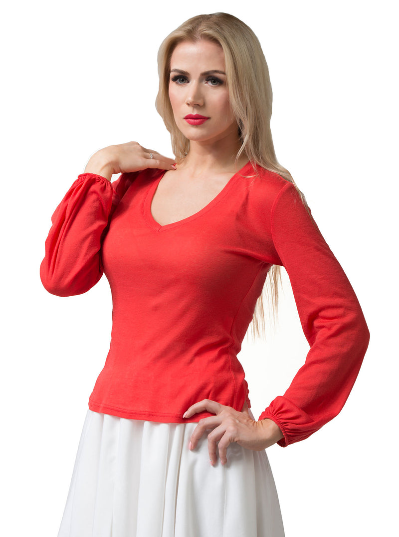 Red Organic Cotton Blouse PIRGIT (SOLD OUT)