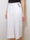White Bamboo Culotte Trousers PERIT
